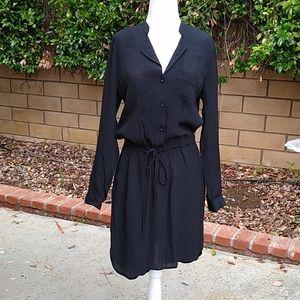 Lucky Brand NWOT Black Rayon/poly Shirt-Dress. S